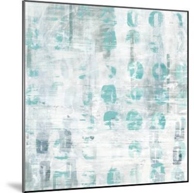 Blue Static IV-June Erica Vess-Mounted Art Print