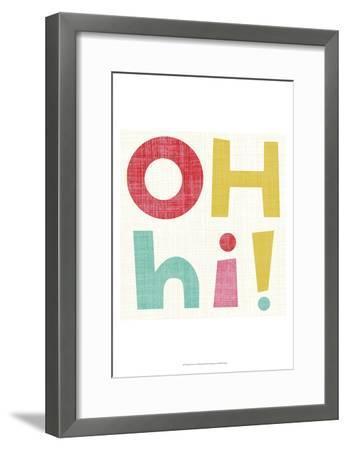 Hi You I-Chariklia Zarris-Framed Art Print