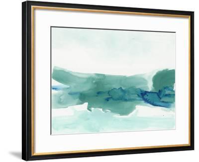 Teal Coast II-June Erica Vess-Framed Giclee Print