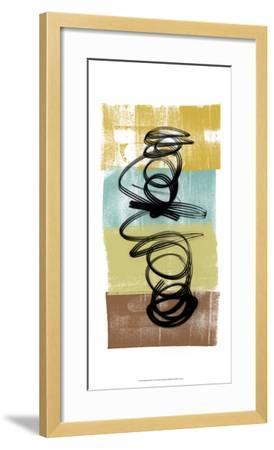 Dancing Swirl I-Alonzo Saunders-Framed Art Print