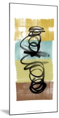 Dancing Swirl I-Alonzo Saunders-Mounted Art Print