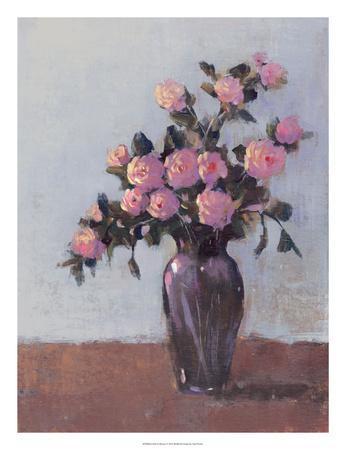 Soft Lit Roses I-Tim O'toole-Framed Art Print