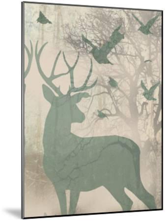 Deer Solace II-Jennifer Goldberger-Mounted Art Print