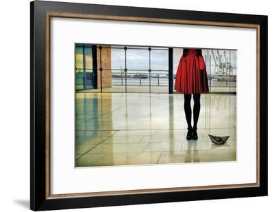 A ship song-Ambra-Framed Art Print