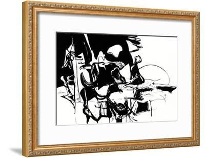 Black 1-Diane Lambin-Framed Art Print