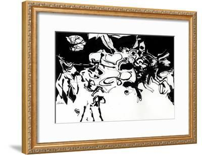 Black 3-Diane Lambin-Framed Art Print