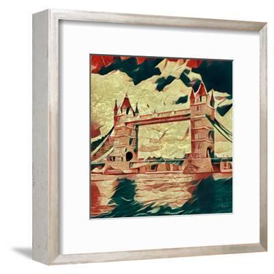 Distorted city scene 25-Jean-Fran?ois Dupuis-Framed Art Print