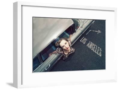 Hollywood road-Reinhard Block-Framed Art Print
