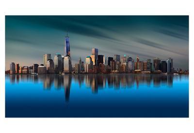 New York World Trade Center 1-Yi Liang-Framed Art Print