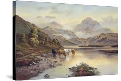 Highland Cattle II-Wendy Reeves-Stretched Canvas Print