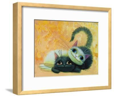 My BFF-K^ Leov-Framed Art Print