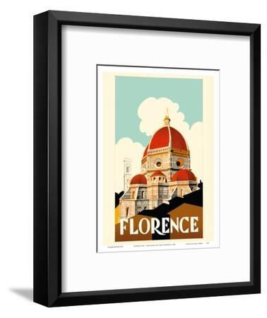 Florence Italy - Santa Maria del Fiore Cathedral, the Duomo of Florence-Pacifica Island Art-Framed Art Print