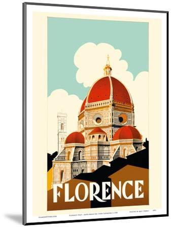 Florence Italy - Santa Maria del Fiore Cathedral, the Duomo of Florence-Pacifica Island Art-Mounted Art Print