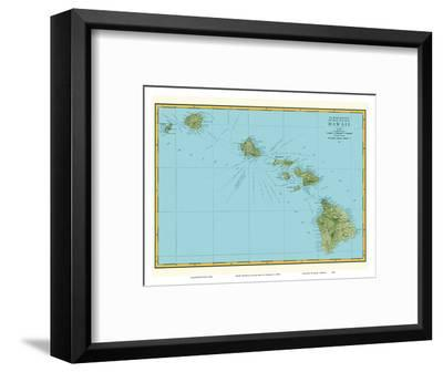 Rand McNally Atlas Map of Hawaii-Pacifica Island Art-Framed Art Print