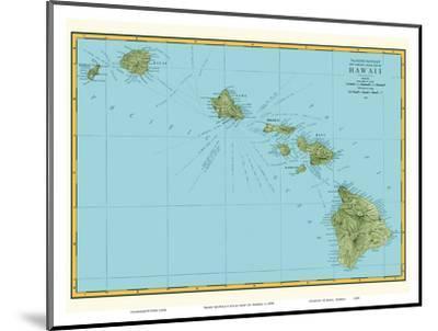 Rand McNally Atlas Map of Hawaii-Pacifica Island Art-Mounted Art Print