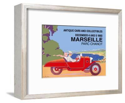 Marseille, France - Antique Cars and Collectibles - Le Parc Chanot Center - Cyclecar Morgan-L?o Bouillon-Framed Art Print