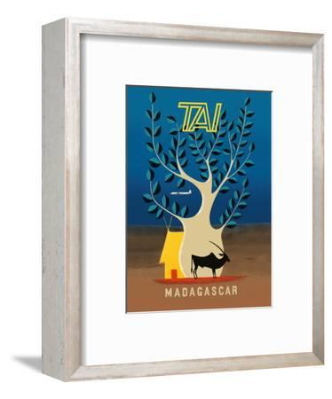 Madagascar - TAI (Transports Aériens Intercontinentaux)-F^ Lesourt-Framed Art Print