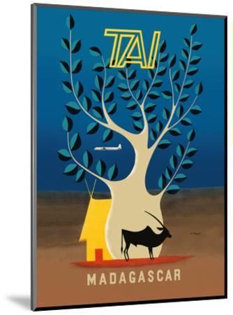 Madagascar - TAI (Transports Aériens Intercontinentaux)-F^ Lesourt-Mounted Art Print