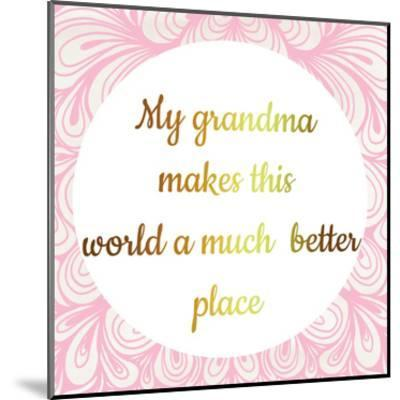 Grandmas World-Jelena Matic-Mounted Art Print