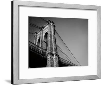 Beneath Brooklyn Bridge 2-Sonja Quintero-Framed Art Print