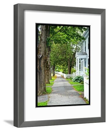 Country Town Sidewalk-Suzanne Foschino-Framed Art Print