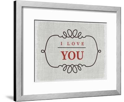 Love You-Kimberly Allen-Framed Art Print