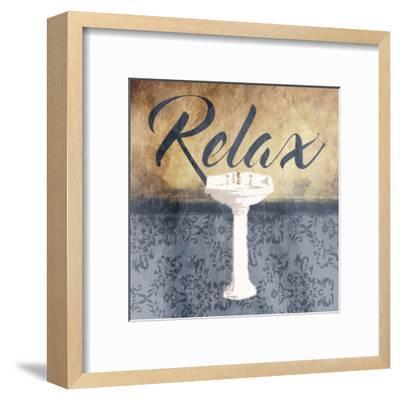 Grey Slate Relax-Jace Grey-Framed Art Print