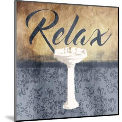 Grey Slate Relax-Jace Grey-Mounted Art Print