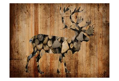 Deer Woods-Sheldon Lewis-Framed Art Print