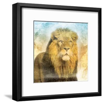Africa Sunrise Two-Jace Grey-Framed Art Print