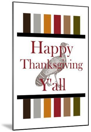 Happy Thanksgiving Y'all-Sheldon Lewis-Mounted Art Print