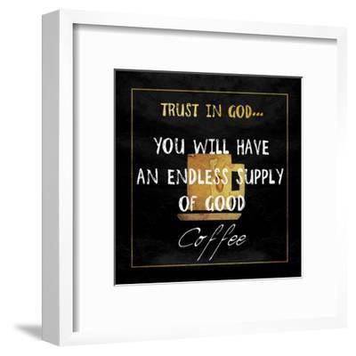 God's Coffee-Sheldon Lewis-Framed Art Print