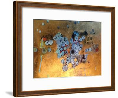 Gold Abstract-Sarah Butcher-Framed Art Print