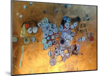 Gold Abstract-Sarah Butcher-Mounted Art Print
