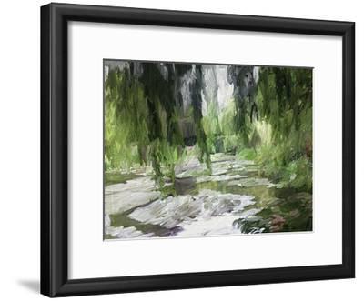 Monets Tranquil Gardens-Sarah Butcher-Framed Art Print