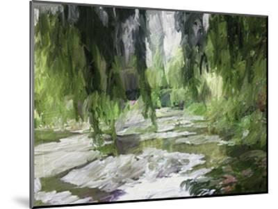 Monets Tranquil Gardens-Sarah Butcher-Mounted Art Print