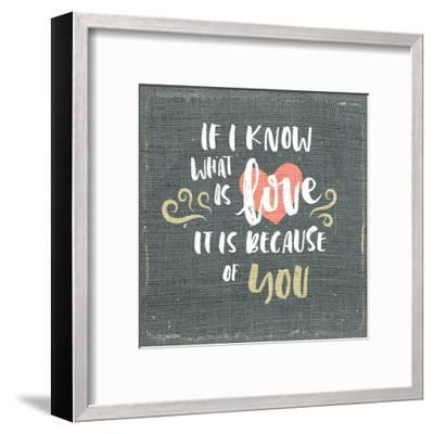 If i Know-Kimberly Allen-Framed Art Print