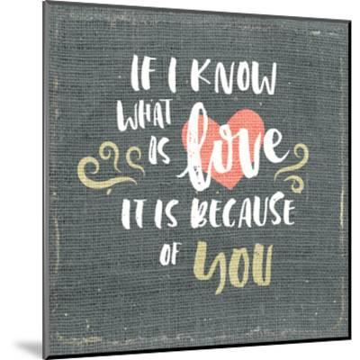If i Know-Kimberly Allen-Mounted Art Print