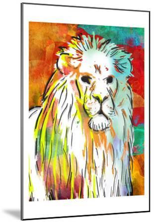 Vibrant Lion-OnRei-Mounted Art Print
