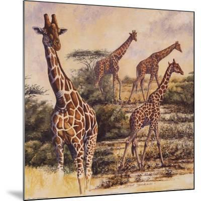 Safari III-Gary Blackwell-Mounted Art Print