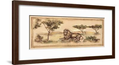 Safari Lion-Ann Brodhead-Framed Art Print