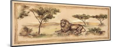 Safari Lion-Ann Brodhead-Mounted Art Print