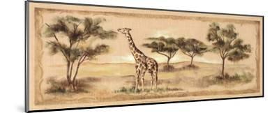 Safari Giraffe-Ann Brodhead-Mounted Art Print