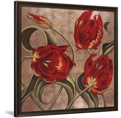 Scarlet Arabesque-Brian McGee-Framed Art Print