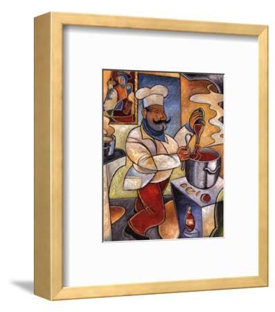 Pablo's Red Sauce-John Milan-Framed Art Print