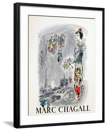 The Magician of Paris-Marc Chagall-Framed Art Print