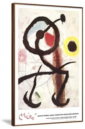 The Bird-Joan Miro-Framed Art Print