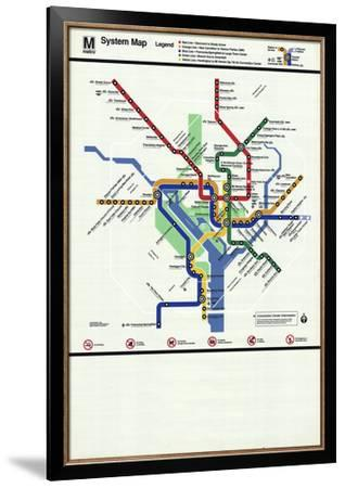Subway Map In Washington Dc.Washington D C Subway Map Serigraph By Unknown Art Com
