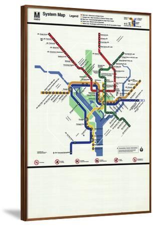 Washington D.C. Subway Map-Unknown-Framed Serigraph