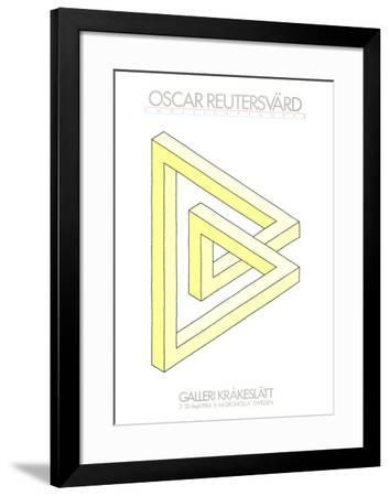 Omojligafigurer (yellow)-Oscar Reutersvard-Framed Art Print